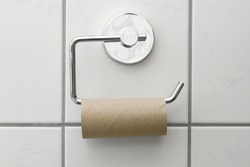 Toilet paper is over concept