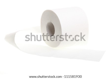 toilet paper isolated on white background