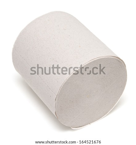 toilet paper isolated on white background #164521676