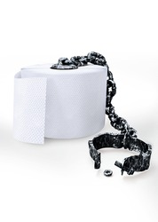 Toilet paper  open shackles, dysbiosis on a white background. Made in 3ds max. For paintings, cards, prints, posters, design