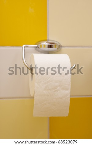 toilet paper roll hanging