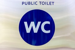 Toilet pictogram. WC sign. Public toilet signpost.