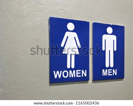 toilet signs indicate for entrance to male and female