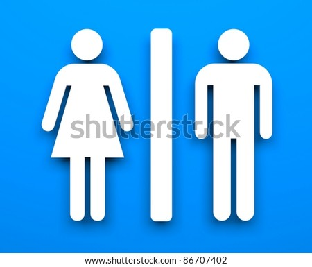 Toilet symbols - stock photo