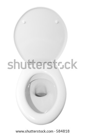 toilet with white background