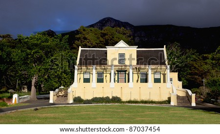 Tokai Manor House, headquarters of Table Mountain National Park and a fine example of Cape Dutch architecture, dates back to 1796.