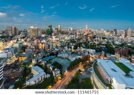 TOKYO - AUG 19: With over 35 million people, Tokyo is the world's most populous metropolis and is described as one of the three command centers for world economy August 19, 2012 in Tokyo, Japan.