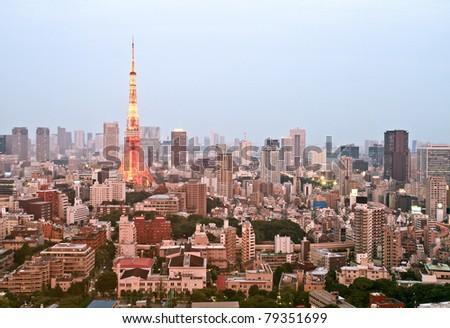 Tokyo city in twilight