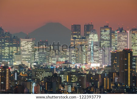 TOKYO - DEC.7: With over 35 million people, Tokyo is the world's most populous metropolis and is described as one of the three command centers for world economy December 7, 2012 in Tokyo, Japan