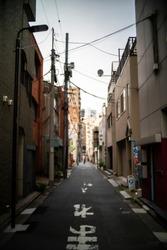 Tokyo, Japan, July 2019, A peacefull street in Tokyo,