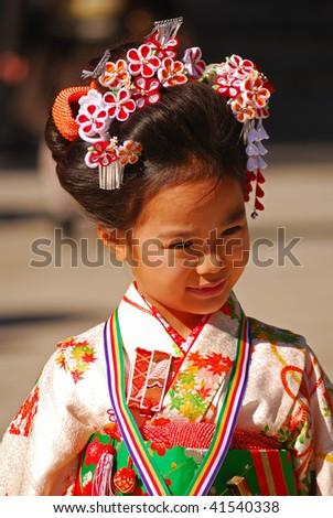 Kimono Dress on Japan   November 3  Children Wearing Traditional Japanese Kimono