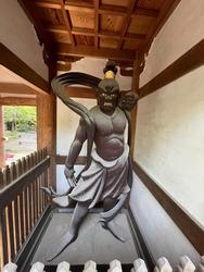 Tokyo Japan Temple Guardian Sculpture