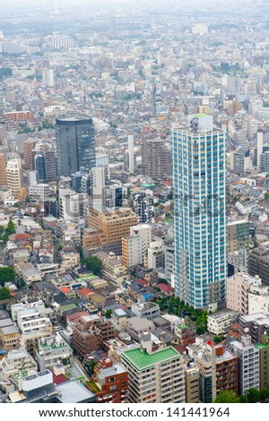 TOKYO - JUNE 24: City architecture view in Roppongi district on June 24, 2012 in Tokyo, Japan. Tokyo is the capital city of Japan and the most populous metropolitan area in the world.