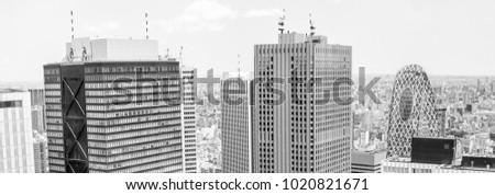 tokyo   may 20  2016 aerial...