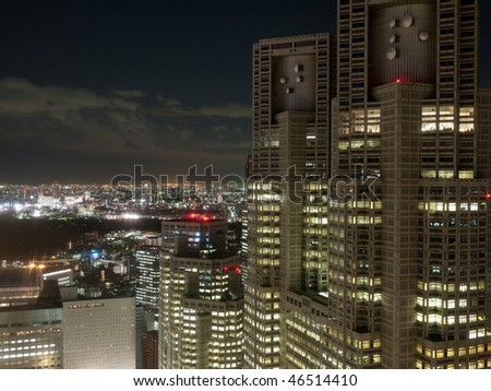 tokyo night view from building