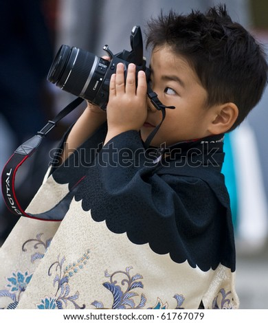 TOKYO - NOVEMBER 03 : Japanese boy on November 03 2009 in Tokyo Japan ,Culture Day is a Japanese national holiday held annually  promoting Japanese culture