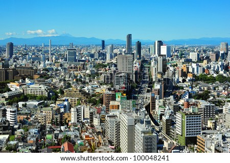 TOKYO - OCT 11: With over 35 million people, Tokyo is the world's most populous metropolis and is described as one of the three command centers for world economy October 11, 2010 in Tokyo, Japan.