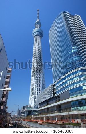 Tokyo sky tree Japanese radio tower
