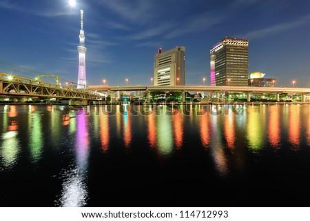 Tokyo skytree at dusk #114712993