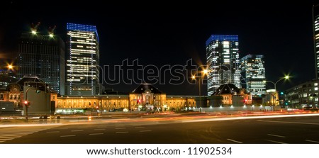 Tokyo station night view