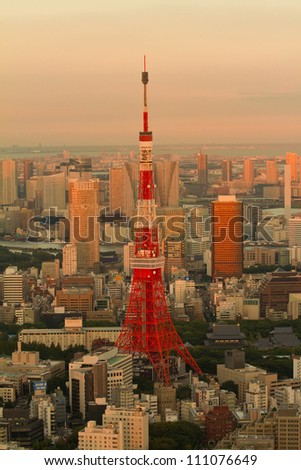 Tokyo Tower in the evening time