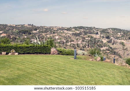 Toledo fields viewed from the gardens of the Parador