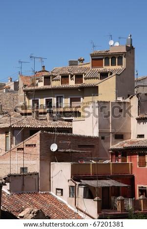 toledo, spain - mediterranean architecture in old spanish city