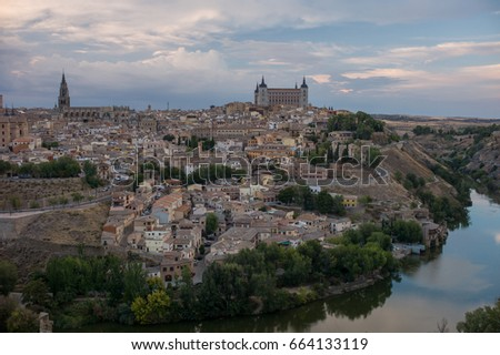 toledo spain september 30 2015 the famous old village toledo with