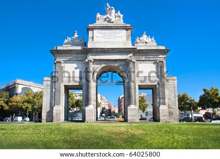 Toledos gate or Puerta de Toledo in Madrid, Spain
