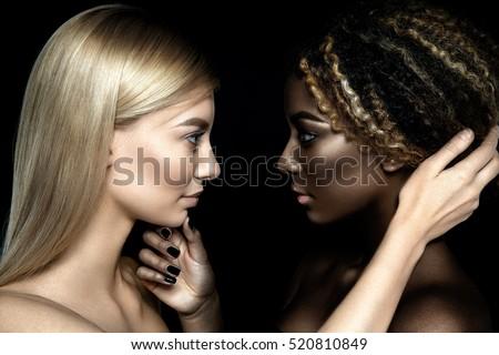 Ebony girls kissing girls