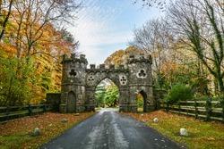 Tollymore Park Gate, Autumn park, Belfast, Northern Ireland, United Kingdom
