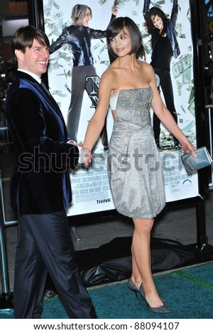 """Tom Cruise & Katie Holmes at the Los Angeles premiere of her new movie """"Mad Money"""" at the Mann Village Theatre, Westwood. January 9, 2008  Los Angeles, CA Picture: Paul Smith / Featureflash - stock photo"""