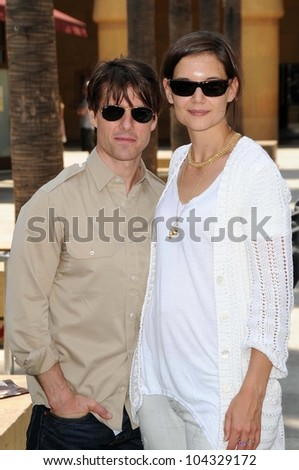 Tom Cruise and Katie Holmes  at the Ceremony honoring Cameron Diaz with a Star on the Hollywood Walk of Fame. Hollywood Boulevard, Hollywood, CA. 06-22-09