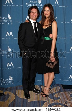 Tom Cruise and Katie Holmes at the Simon Wiesenthal Center Annual National Tribute Dinner Honoring Tom Cruise, Four Seasons Hotel, Beverly Hills, CA 05-05-11
