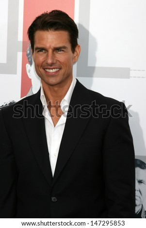 "Tom Cruise  arriving at the LA  Premiere of ""Valkyrie&quot ; at the Director's Guild of America Theater in Los Angeles, CA on December 18, 2008 - stock photo"
