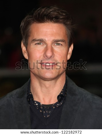 Tom Cruise arriving at the World Premiere of Jack Reacher, at Odeon Leicester Square, London. 10/12/2012 Picture by: Alexandra Glen