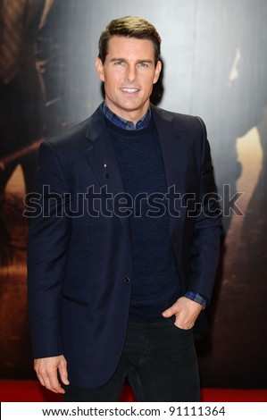 "Tom Cruise arriving for the premiere of ""Mission Impossible Ghost Protocol"" at the IMAX cinema, South Bank, London. 13/12/2011 Picture by: Steve Vas / Featureflash"