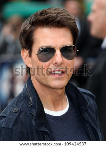 Tom Cruise arriving for the Rock Of Ages Premiere, Odeon Leicester Square, London. 10/06/2012 Picture by: Alexandra Glen / Featureflash
