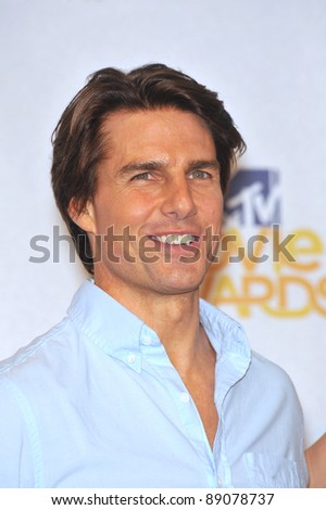 Tom Cruise at the 2010 MTV Movie Awards at the Gibson Amphitheatre, Universal Studios, Hollywood. June 6, 2010  Los Angeles, CA Picture: Paul Smith / Featureflash