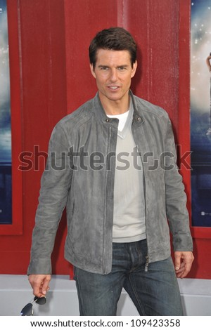 "Tom Cruise at the world premiere of his new movie ""Rock of Ages"" at Grauman's Chinese Theatre, Hollywood. June 9, 2012  Los Angeles, CA Picture: Paul Smith / Featureflash"