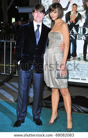 "Tom Cruise & Katie Holmes at the Los Angeles premiere of her new movie ""Mad Money"" at the Mann Village Theatre, Westwood. January 9, 2008  Los Angeles, CA Picture: Paul Smith / Featureflash"