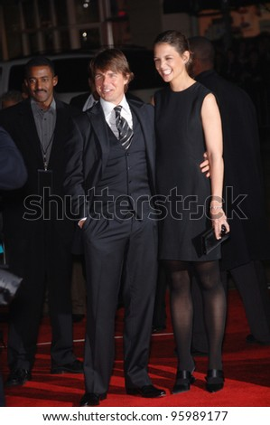 """TOM CRUISE & wife KATIE HOLMES at the world premiere of """"The Pursuit of Happyness"""" at the Mann Village Theatre, Westwood. December 7, 2006  Los Angeles, CA Picture: Paul Smith / Featureflash"""