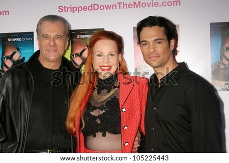 "Tom Hallick with Brenda Dickson and Steve Richard Harris  at the Los Angeles Premiere of ""Stripped Down'. Laemmle's Sunset 5, West Hollywood, CA. 05-21-09"