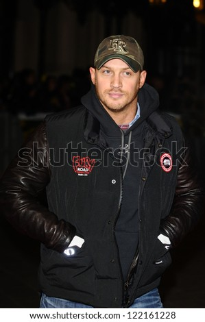 "Tom Hardy arrives for the ""Jack Reacher"" premiere at the Odeon Leicester Square, London. 10/12/2012 Picture by: Steve Vas"