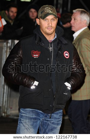 """Tom Hardy arrives for the """"Jack Reacher"""" premiere at the Odeon Leicester Square, London. 10/12/2012 Picture by: Steve Vas"""