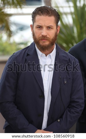 Tom Hardy arriving for the 'Lawless' Photocall at the 65th Annual Cannes Film Festival, Cannes, France. 20/05/2012 Picture by: Henry Harris / Featureflash
