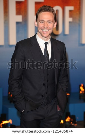 Tom Hiddleston arriving for the Life Of Pi premiere, at Empire Leicester Square, London. 03/12/2012 Picture by: Alexandra Glen