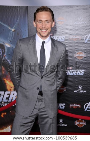 "Tom Hiddleston at the ""Marvel's The Avengers"" Los Angeles Premiere, El Capitan Theatre, Hollywood, CA 04-11-12 - stock photo"