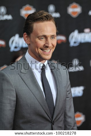 "Tom Hiddleston at the world premiere of his new movie ""Marvel's The Avengers"" at the El Capitan Theatre, Hollywood. April 11, 2012  Los Angeles, CA Picture: Paul Smith / Featureflash - stock photo"