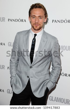 Tom Hiddlestone arriving for the Glamour Women Of The Year Awards 2012, at Berkeley Square, London. 29/05/2012 Picture by: Steve Vas / Featureflash